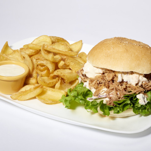 Pulled Pork Burger   GREASE AMERICAN GRILL