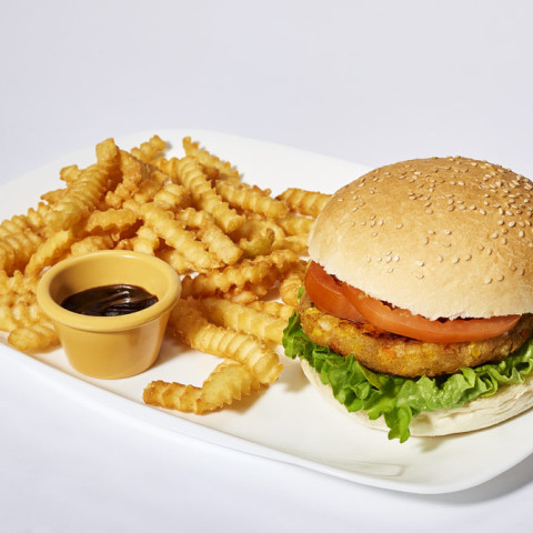 Veggy burger   GREASE AMERICAN GRILL